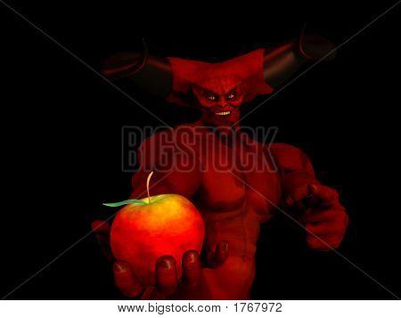 Devil Offering An Apple