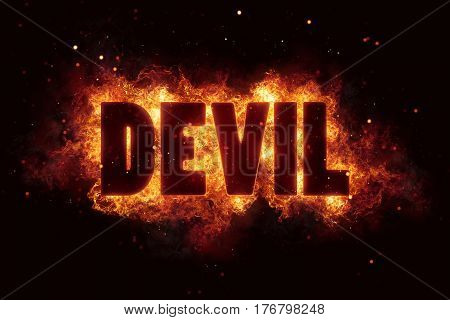 devil Fire Satanic sign gothic style evil esoteric occultism