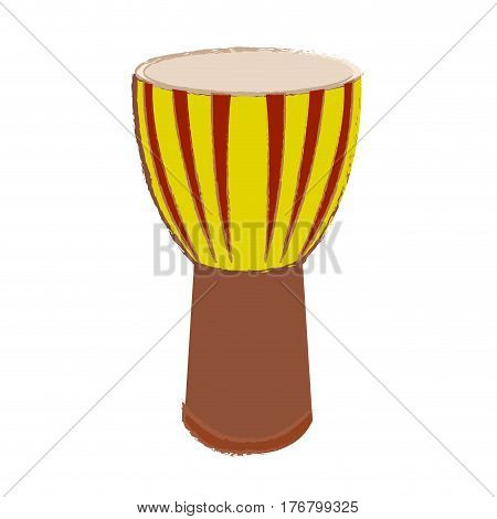 Isolated conga drum on a white background, Vector illustration