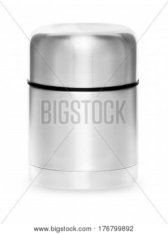 Metal Thermos Collection Isolated On White Background