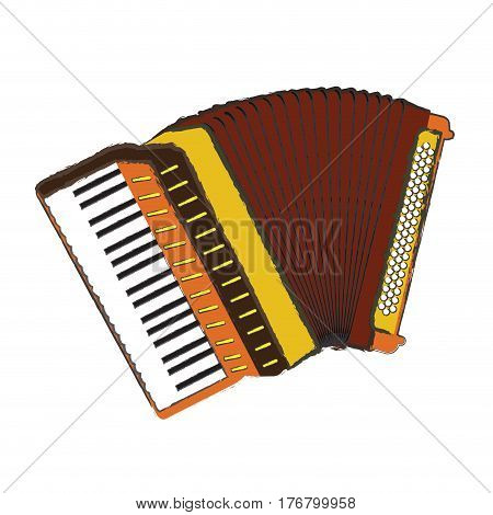 Isolated accordion on a white background, Vector illustration