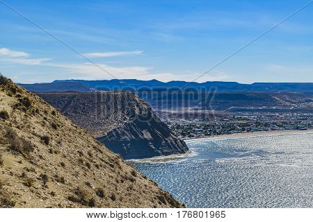 Landscape View From Punta Del Marquez Viewpoint, Chubut, Argentina