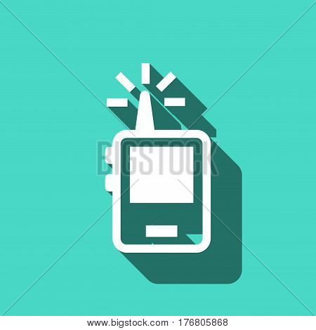 radio portable icon stock vector illustration flat design