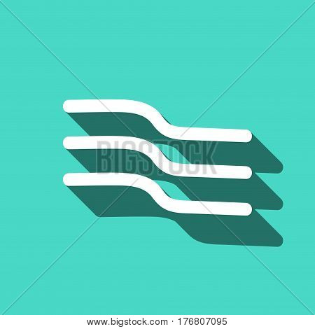 wind icon stock vector illustration flat design