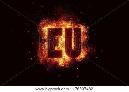 euro fire flames burn burning text explosion explode eu