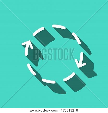 arrows icon stock vector illustration flat design
