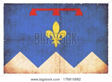 Grunge Flag Of Alpes-de-haute-provence (france)