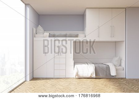 Teenager Room With A Bunk Bed And Window