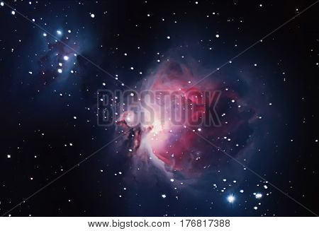 Great Nebula in Orion Messier 42. Orion Nebula