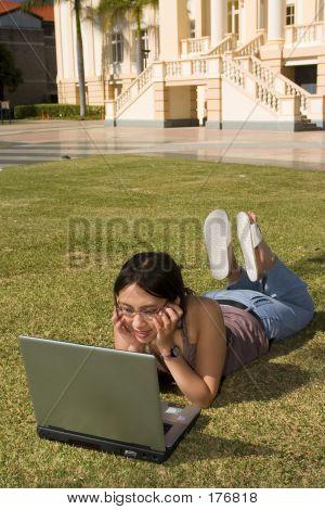 Asian Woman Working
