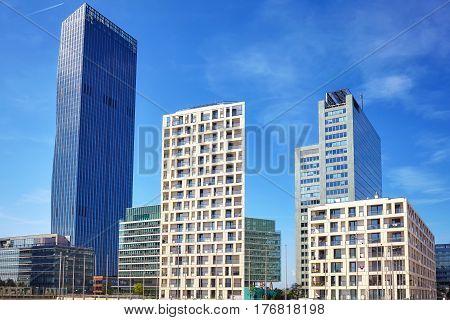 Vienna Modern Architecture In The Uno City Complex, Austria