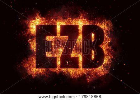 ezb finance eu euro bank banking fire flame flames burn hot