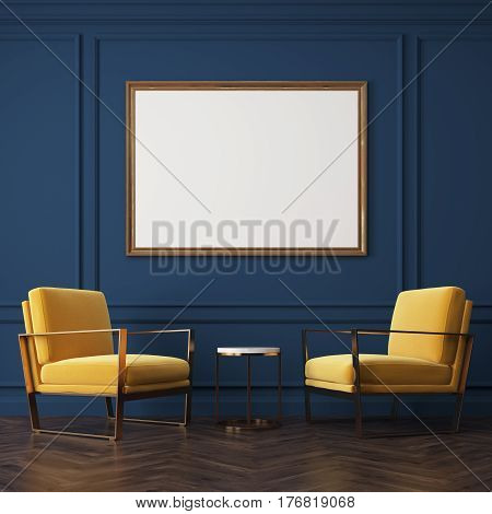 Two Yellow Armchairs And A Poster