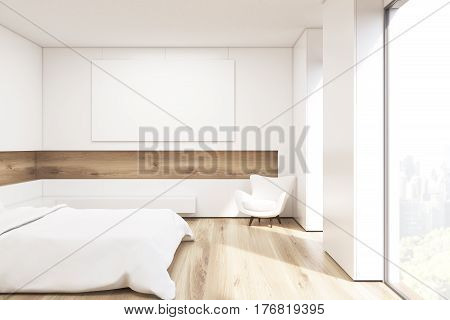 Side View Of Bedroom With Horizontal Picture