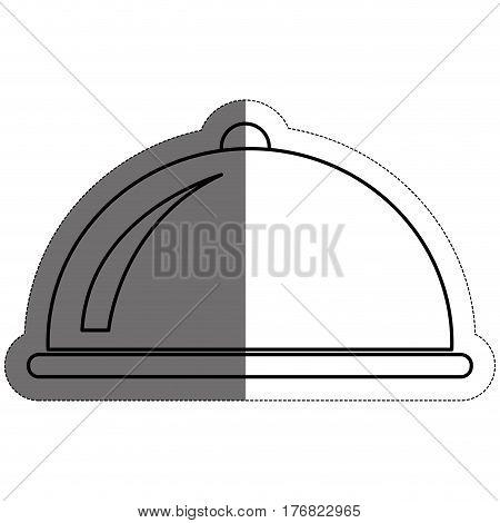 platter icon over white background. vector illustration
