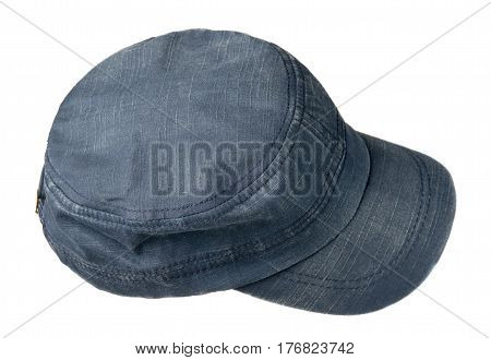 Sports Cap Isolated On A White Background .blue Cap