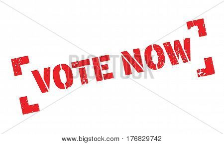 Vote Now rubber stamp. Grunge design with dust scratches. Effects can be easily removed for a clean, crisp look. Color is easily changed.