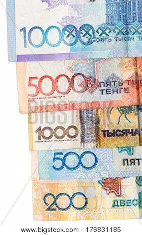 Kazakh tenge money as background . Photo taken by professional camera and lens