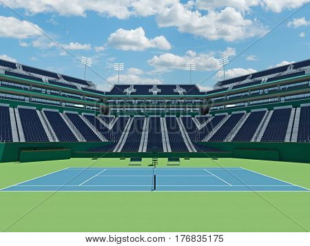 3D Render Of Beutiful Modern Tennis Masters 1000  Lookalike Stadium
