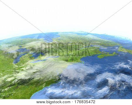 East Coast Of Canada On Planet Earth