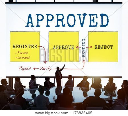 Accepted Approved Certified Completed Confirmed