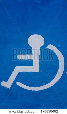 Disabled symbol and icon backgrounds blue  .