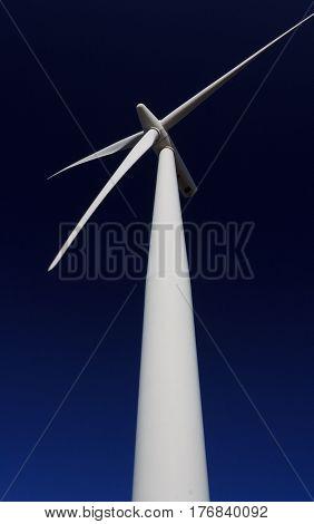 wind turbine alternative energy. Location: New Zealand Aotearoa, capital city Wellington, North Island.