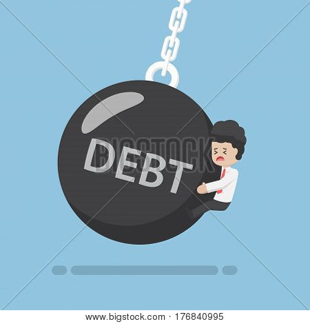 Businessman Is Hit By Debt Wrecking Ball