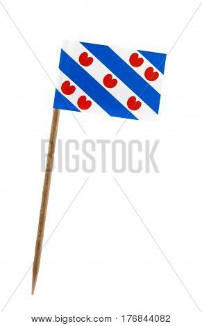 Tooth pick wit a small paper flag of Friesland