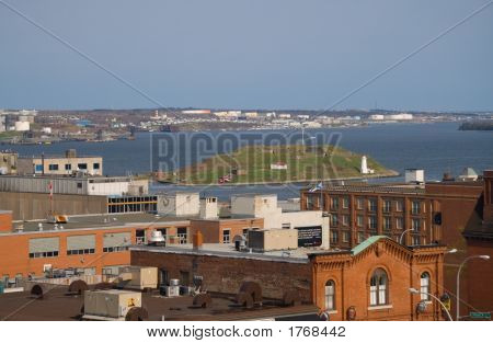 Georges Island is a glacial drumlin that lies in Halifax Harbor poster