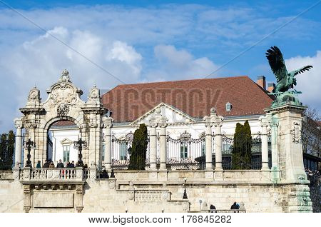 The Entrance Gate To The Buda Castle, Palace Complex. Budapest. Hungary