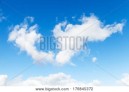 White Cumulus Clouds In Blue Sky