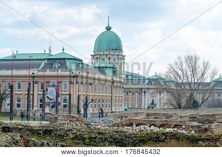 Buda Castle Is The Castle And Palace Complex Of The Hungarian Kings In Budapest.