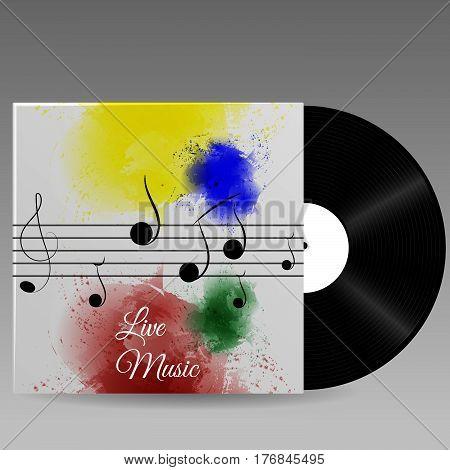 Banner For The Concert Live Music Vinil Illustration Eps 10