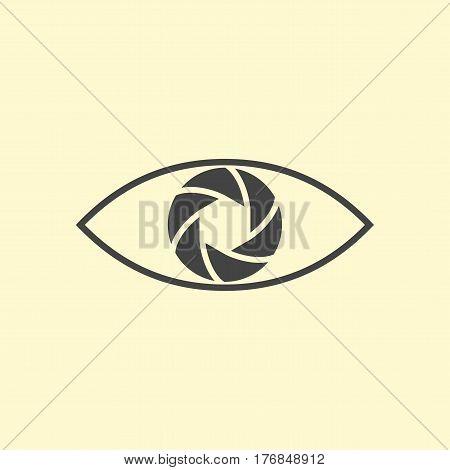 Photography logo design eye. Line art design