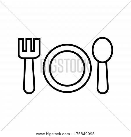 Thin Line Eating Utensils Icon
