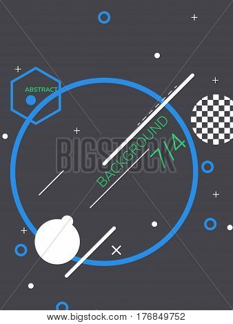Universal background from dynamic geometric elements for motion design, animation graphic, email. Easy editable poster