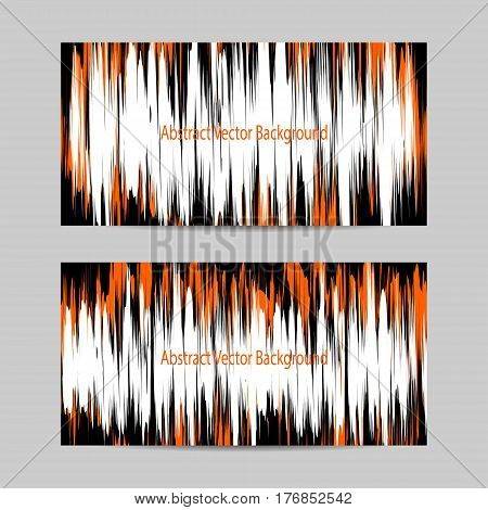 Set of horizontal banners. Sound waves oscillating. Abstract technology background. Vector illustration.