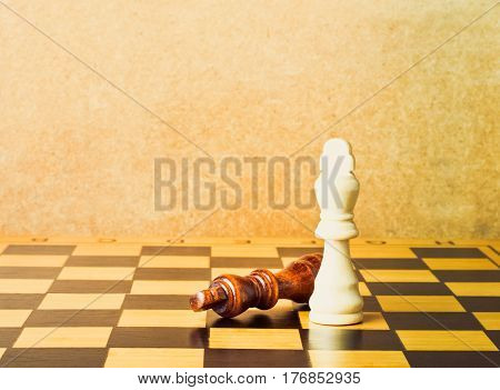 One Chess King Dominating Another