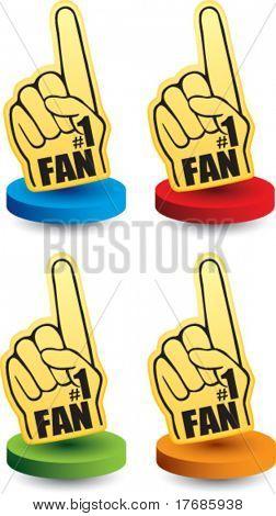 number one fan foam hand colored discs
