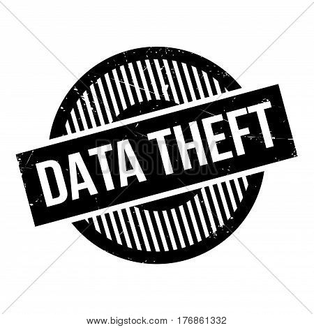 Data Theft rubber stamp. Grunge design with dust scratches. Effects can be easily removed for a clean, crisp look. Color is easily changed.