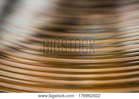 Basin as background (musical instrument) Macro shot