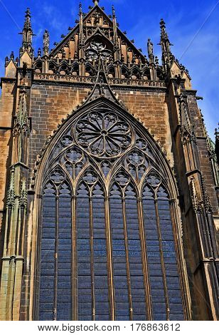Metz France - july 25 2016 : the Saint Etienne cathedral