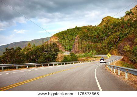 A Highway To Samana Peninsula Through Rocky Mountain. Boulevard Turistico Atlantico, 133. Dominican