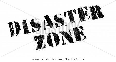 Disaster Zone rubber stamp. Grunge design with dust scratches. Effects can be easily removed for a clean, crisp look. Color is easily changed.