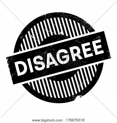 Disagree rubber stamp. Grunge design with dust scratches. Effects can be easily removed for a clean, crisp look. Color is easily changed.