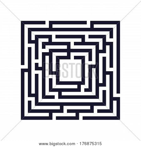 Square maze labyrinth icon. Business concept. Vector illustration.
