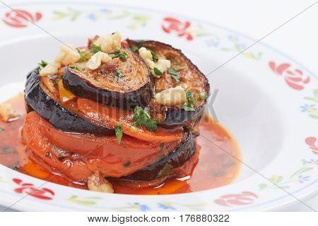 roasted aubergines