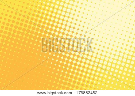 Orange yellow halftone pop art retro background. comic book vector illustration