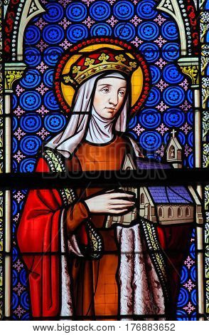 Stained Glass - Saint Hedwig Of Silesia